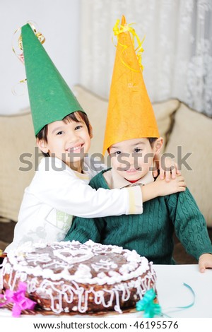 Birthday, brothers, togetherness - stock photo