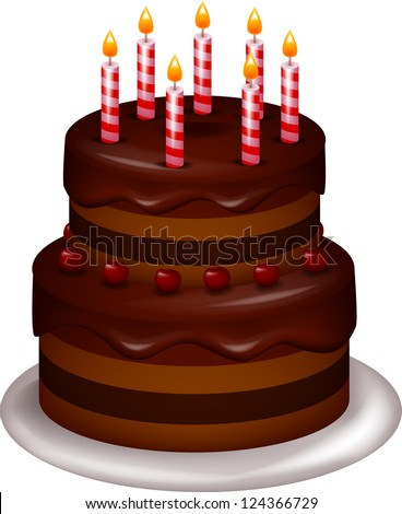 Birthday cake - stock photo