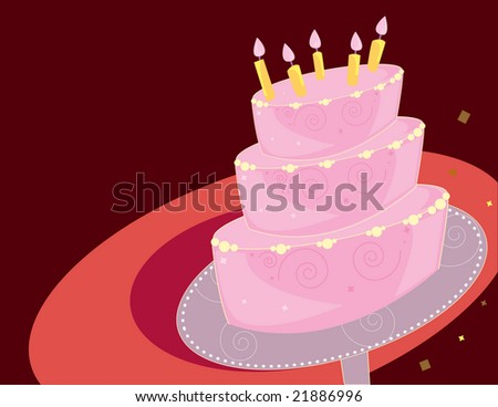 Birthday cake background - jpg version - stock photo