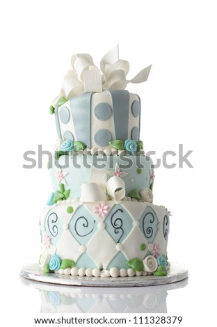 Birthday cake isolated on white background