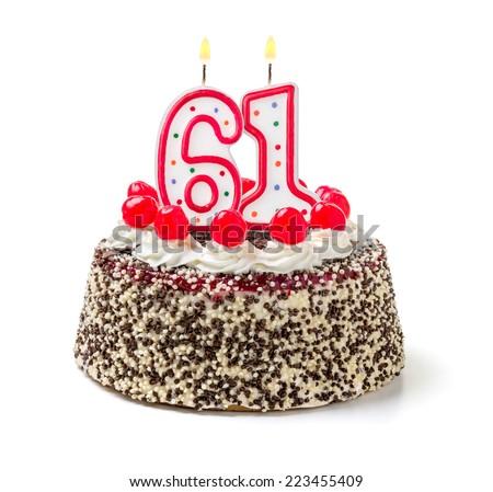 61 birthday cake