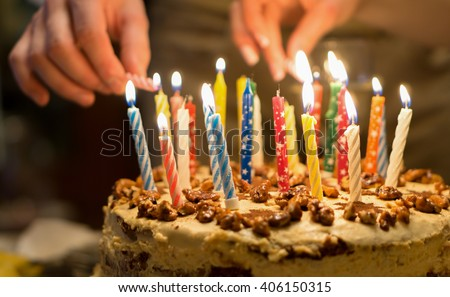 Birthday Cake With Candles Stock Images RoyaltyFree Images