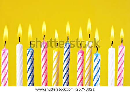 Birthday candles.