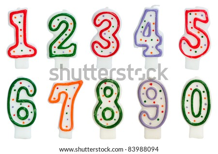 Birthday candles isolated on the white - stock photo