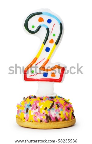 Birthday candles isolated on the white background - stock photo