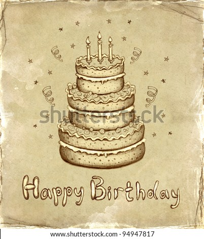 Birthday card - stock photo
