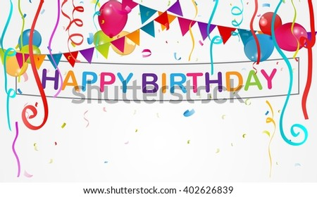 Birthday decoration background  - stock photo