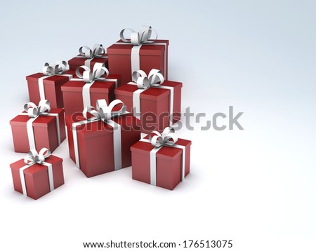 birthday gift box - stock photo
