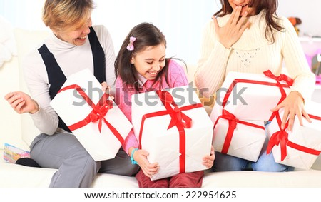 Birthday gifts. - stock photo