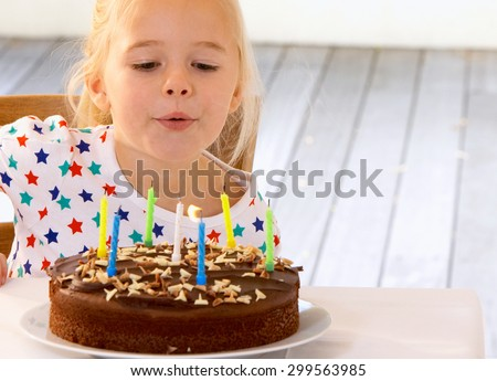 birthday girl - stock photo