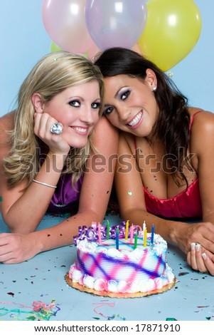 Birthday Girls - stock photo