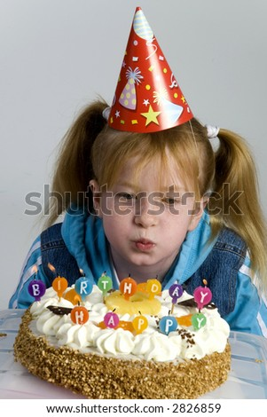 Birthday of a little girl - stock photo