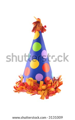 Birthday or New Year's Eve party hat - stock photo