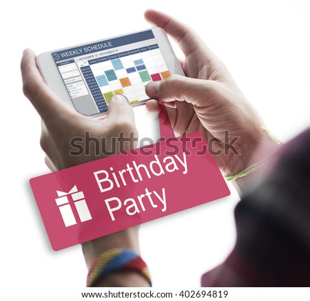 Birthday Party Anniversary Celebrate Happiness Concept - stock photo