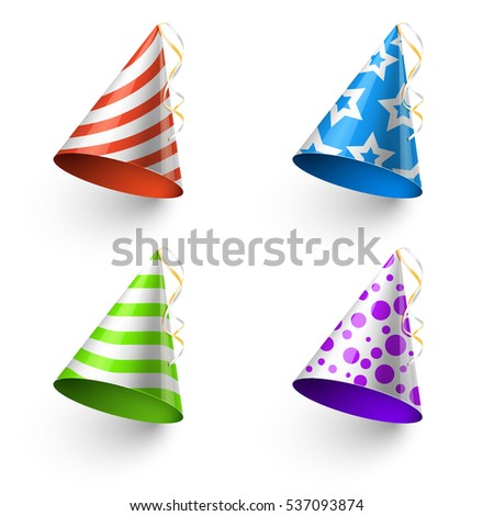 Birthday party funny hats photo booth stock illustration 537093874 birthday party funny hats photo booth templates color cone for holiday illustration maxwellsz