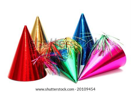 birthday party hats - stock photo