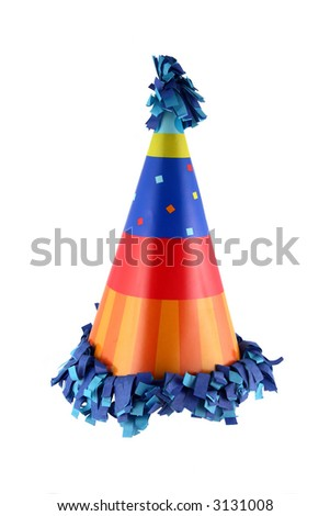 Birthday party or New Year's Eve celebration hat - stock photo