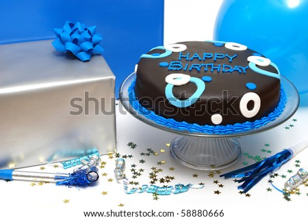 Birthday Party Scene - stock photo