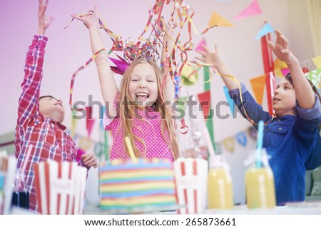 Birthday party with the best friends - stock photo