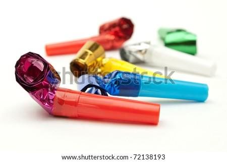 birthday whistles - stock photo