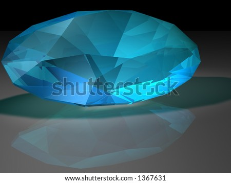 Birthstone for December- Blue Zircon - stock photo