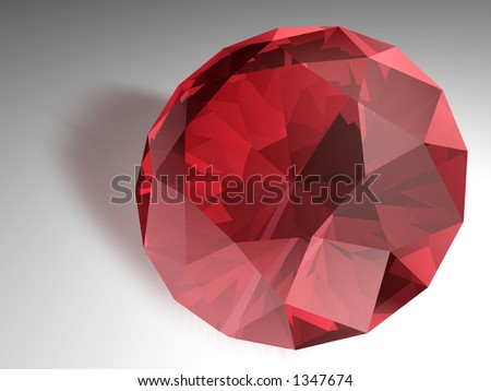 Birthstone for July- Red Ruby - stock photo