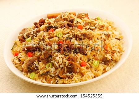 Biryani mutton rice. - stock photo