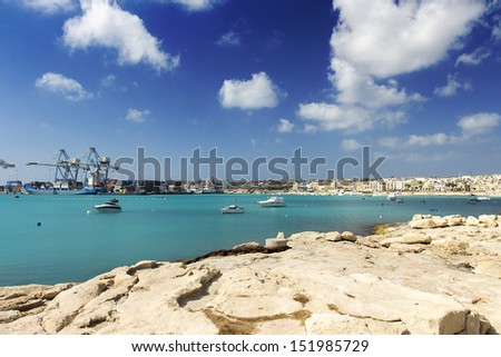 Birzebbuga cityscape in Malta - stock photo