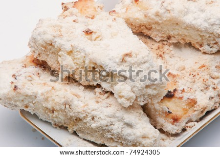 Biscuit about ginger and cottage cheese