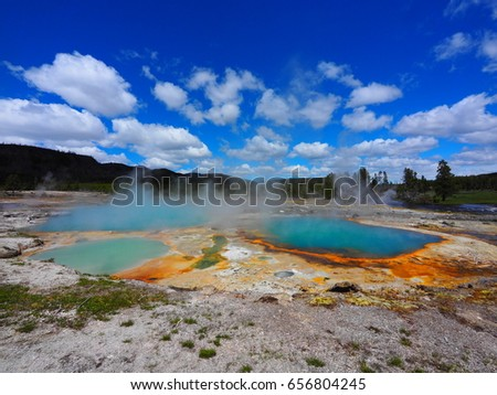 Biscuit Basin in Yellowstone National Park, USA