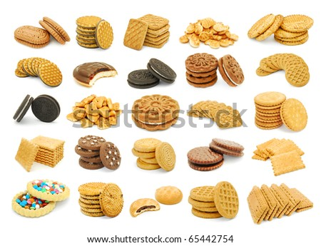 biscuits collage - stock photo