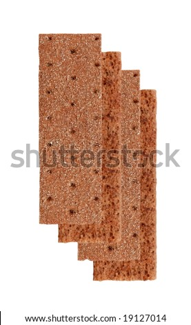 biscuits (crackers) isolated on white background