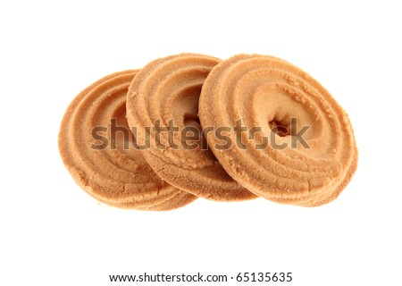 Biscuits isolated on a white background - stock photo