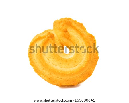 Biscuits isolated on white background