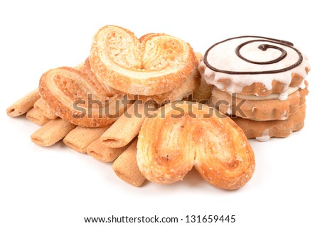 Biscuits on a white background