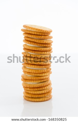 Biscuits on a white background.
