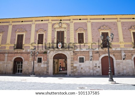 Bishop's palace. Lucera. Puglia. Italy. - stock photo