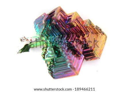 bismuth (Bismuthum) mineral isolated on the white background