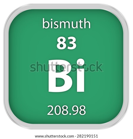 Bismuth material on the periodic table. Part of a series. - stock photo