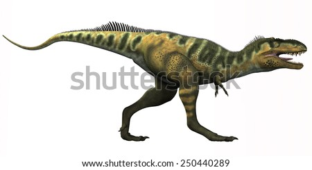 Bistahieversor Dinosaur - Bistahieversor is a genus of tyrannosauroid dinosaur that lived in New Mexico during the Cretaceous Period. - stock photo