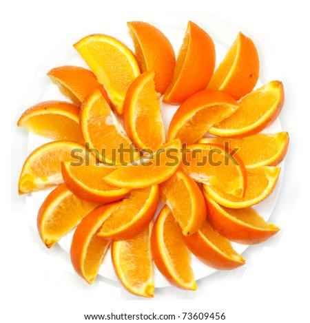 bit of the orange decomposable beautifully around - stock photo