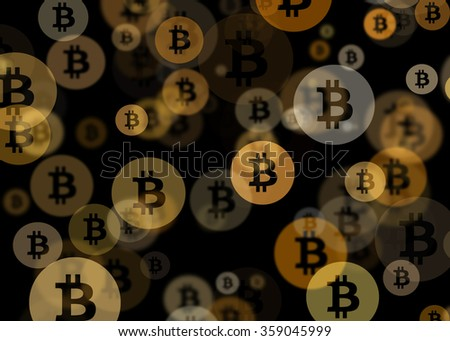 Bitcoin Bokeh Abstract Background - stock photo