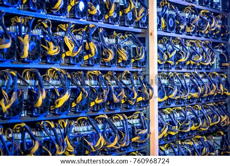 Bitcoin Cryptocurrency Mining Farm Stock Photo (Royalty ...