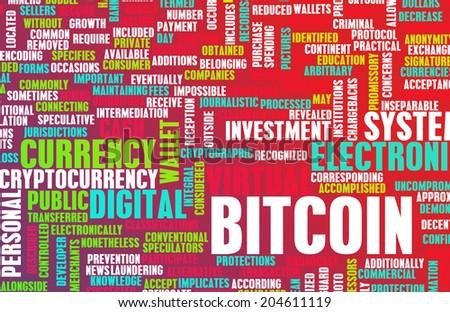 Bitcoin or Bitcoins as a Crypto Currency Concept - stock photo