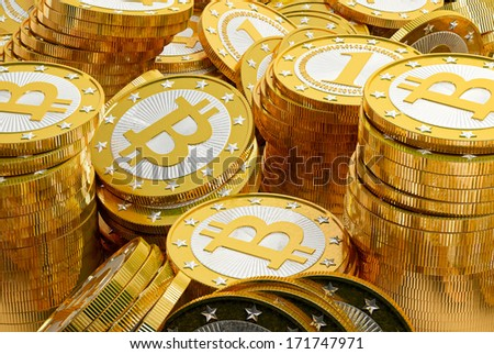 Bitcoins - stock photo
