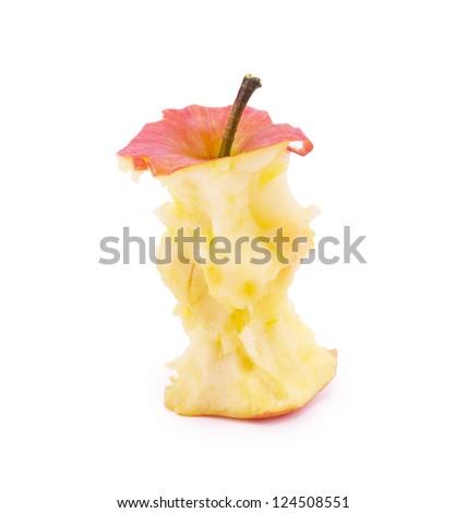 bite apple isolated on white background - stock photo