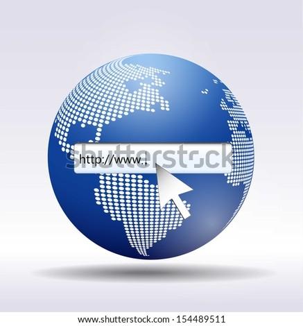 Bitmap  http://www. written in search bar  - stock photo