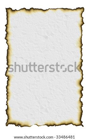 Bitmap illustration of crumpled and burnt paper. Idea for use as background of an old map or letter or document. - stock photo