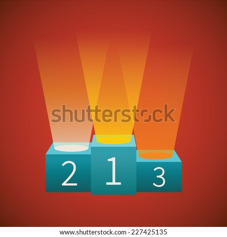 bitmap illustration of winners podium for first second and third place - stock photo