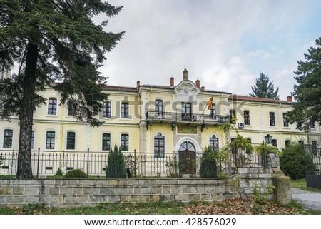 BITOLA, MACEDONIA - NOV. 2015; The Founder of the Republic of Turkey, Mustafa Kemal Ataturk studied in Bitola military high school between 1896 and 1899. - stock photo